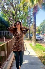 Blanca Blanco Dons animal print in West Hollywood