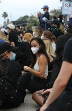 Cara Santana Attends the Breonna Taylor protest in LA