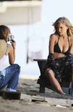Charlotte McKinney At a photoshoot on the beach in Los Angeles