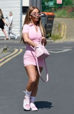 Chelsee Healey Outside a post office in Manchester