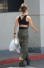 Chloe East At spin class in Los Angeles