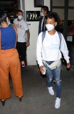 Christina Milian At Madeo restaurant in Beverly Hills