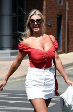 Christine McGuinness Outside a post office in Wilmslow