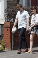 Daisy Edgar-Jones Seen holds hands with her boyfriend Tom Varey on a sunshine stroll in London