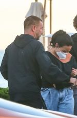 Demi Lovato Slips out after dinner at Malibu with her boyfriend in Malibu