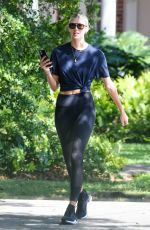 Devon Windsor Dons athleisure ensemble while out on her morning walk in Miami