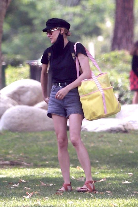 Diane Kruger Seen at a park with her daughter in Beverly Hills