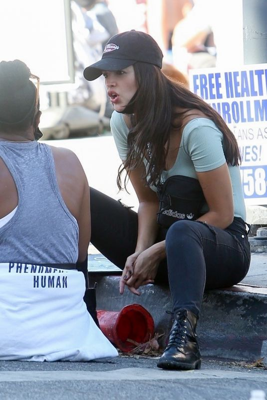 Eiza Gonzalez At a protest in West Hollywood