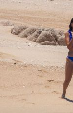 Eiza Gonzalez In blue bikini on a beach in Mexico