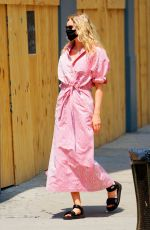 Elsa Hosk Is pretty in pink when out and about with husband Tom Daly in sunny New York
