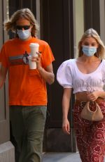 Elsa Hosk Wearing a Mask Out in New York