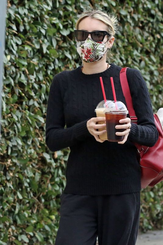 Emma Roberts At coffee run in Los Angeles