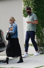 Emma Roberts Visiting a friend in Beverly Hills