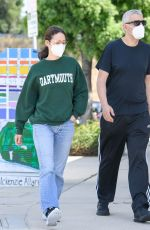 Emmy Rossum And Sam Esmail avoid the riots with coffee stop in Toluca Lake