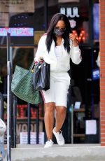 Garcelle Beauvais Pictured exiting a hair store in LA