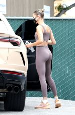 Hailey Baldwin Outside a medical building in Los Angeles