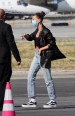Hailey Bieber Arrives back in LA on a Private Jet