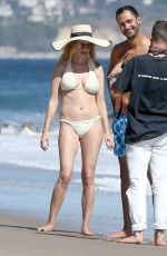 Heather Graham In a bikini at the beach in Malibu