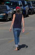 Helen Hunt Drys off after enjoying a beach day in Malibu