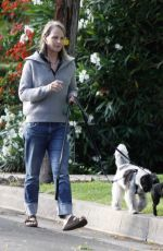 Helen Hunt Walking her dogs in Pacific Palisades