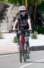 Isla Fisher Riding Her Bike Out in Los Angeles