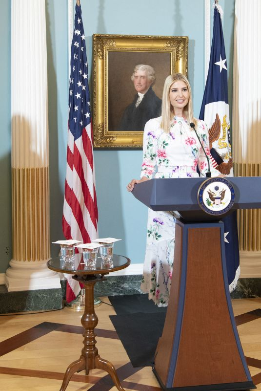 Ivanka Trump At Virtual release of the 2020 Trafficking in Persons Report