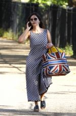 Jenna Coleman Out for a picnic in London