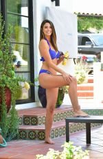 Jennifer Lahmers In a blue bikini in Beverly Hills