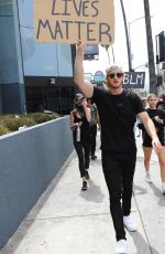 Josie Canseco Seen protesting with Logan Paul in Hollywood