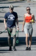 Kate Bosworth Early walk with her husband Micheal Polish in LA