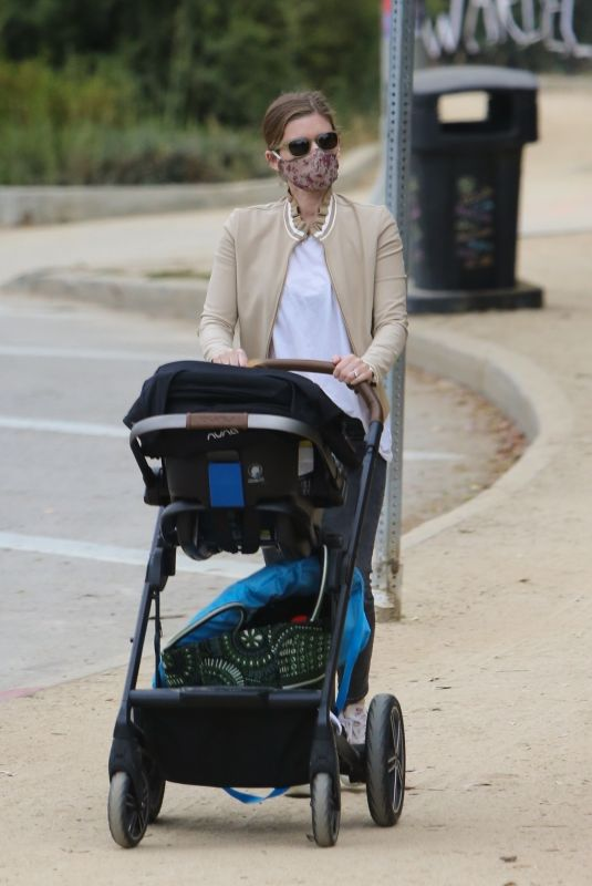 Kate Mara Takes a stroll in the park with her baby in Silver Lake