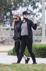 Katherine Schwarzenegger & Maria Shriver Step out to take a walk and have a little girl time in Santa Monica