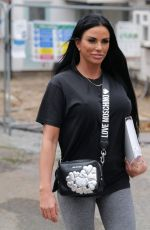 Katie Price Arriving for a business meeting in Essex