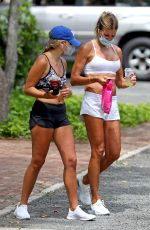Kelly Bensimon Pictured out with a friend for a walk in The Hamptons