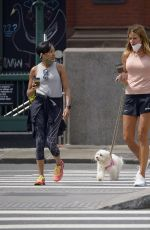 Kelly Bensimon Pictured out with a friend on a dog walk in New York City