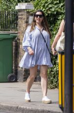 Kelly Brook Seen out and about in Belsize Park, London