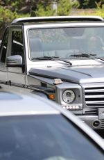 Kendall Jenner Driving her new convertible G500 special edition in Beverly Hills