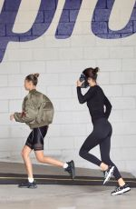 Kendall Jenner & Hailey Baldwin Outside a gym in Beverly Hills