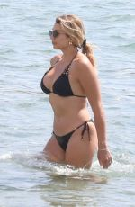 Konstantina Spyropoulou In black bikini at the beach in Athens