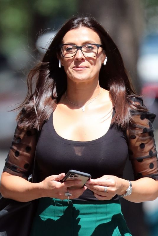 Kym Marsh In good spirits as she leaves the BBC studios in London