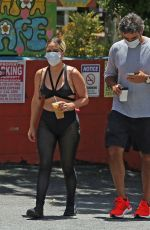 Lady Gaga Seen with her boyfriend at Canyon Country Store in Los Angeles
