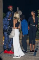Lais Ribeiro Heads out after dinner with friends and her son at Nobu in Malibu