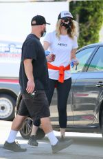 Laura Dern Out in Brentwood getting gas
