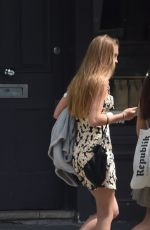 Lila Grace Moss Out and about in North London with a friend