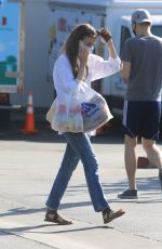 Lily Collins Shopping in LA