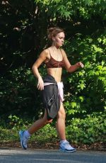 Lily-Rose Depp Out jogging in Los Angeles