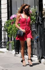 Lizzie Cundy Seen out in central London