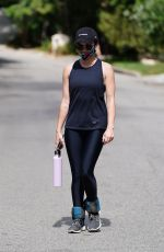 Lucy Hale Goes for a hike at Fryman Canyon in Studio City, California