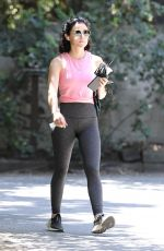 Lucy Hale On a hike in Hollywood Hills
