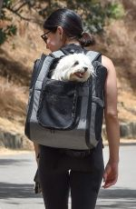 Lucy Hale Pampers Elvis on a hike in Studio City